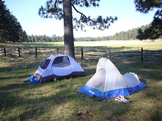 2 small tents