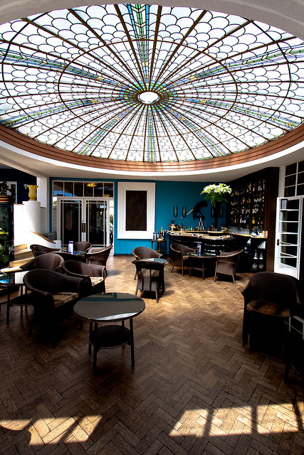 The bar at Burgh Island Hotel, Devon