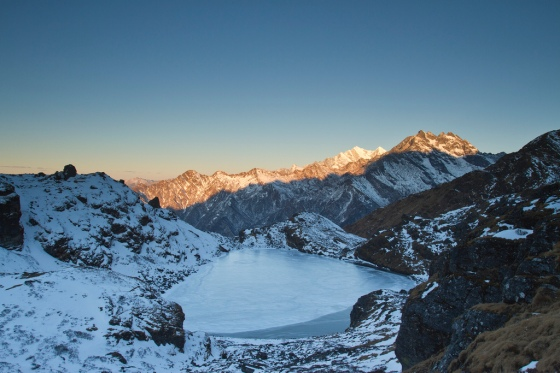 Panch Pokhari at sunset