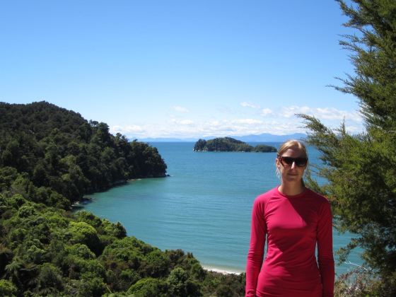Wearing my natural fibre baselayer in New Zealand