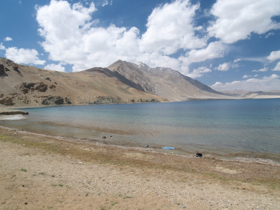 The shore of Lake Tso Moriri