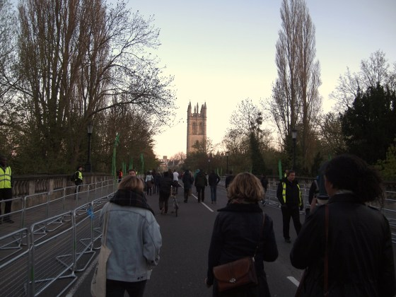 Crossing Magdalen Bridge
